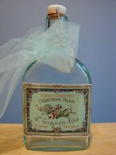 Medium Size Flask BARCELONA GLASS BOTTLE With 'Heliotrope Blanc' Label and Bow