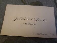 1900 Smith Electrician Corona Queens LI NYC Business Card