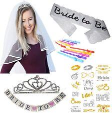 Bride to Be Bachelorette Party Decorations Kit - Sash, Veil, Tiara, Banner more