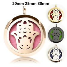 Essential Oil Diffuser Locket Pendant Round Stainless Steel Flower Aroma Perfume