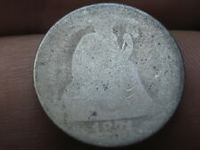 1871 Seated Liberty Silver Dime- Lowball, Heavily Worn, Possible S or CC?