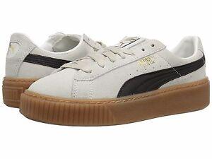 Women's Shoe PUMA Suede Platform Core Sneakers 363559-01 White / Black