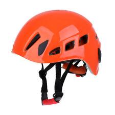 Rock Climbing Safety Helmet Caving   Hard Hat   Head Protector Orange