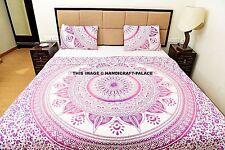 Indian Queen Reversible Duvet Set Boho Cotton Mandala Quilted Blanket Comforter