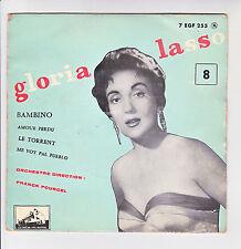 Gloria LASSO 45T EP BAMBINO - LE TORRENT Franck POURCEL - VOIX DE SON MAITRE 255