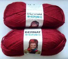 Bernat Yarn SheepIsh Vickie Howell Dark RedIsh Medium Worsted 2 Skeins Red NEW