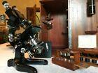 Vintage W  Watson   Sons Bactil High Power Binocular Microscope   c1948  Cased
