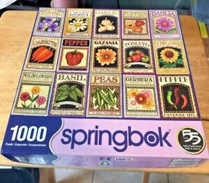 "Springbok 1000 piece puzzle ""Garden Goodness"" 2017"