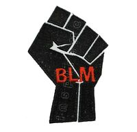 Black Power Fist BLM Embroidered Sew/Iron On Patch Black Lives Matter BLM