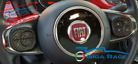FIAT 500 MIRROR ADESIVI STICKER DECAL RAZZE COMANDI VOLANTE TUNING CARBON LOOK
