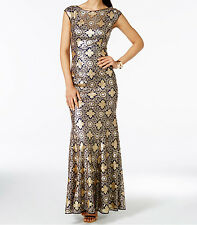 JS Collections New Sequined Gown Size 8 #HN 459
