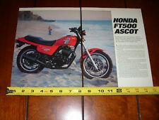 1982 HONDA FT500 ASCOT - ORIGINAL ARTICLE