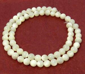 😏 Perlmutt Perlen Kugeln 6 mm Muschelperlen Strang für Mala, Kette & mehr 😉