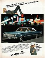 1967 Pamela Austin tied-up Dodge Coronet 440 car vintage photo print ad adL93