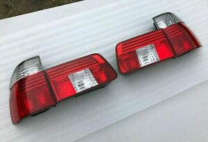 Genuine BMW E39 WAGON TOURING LED EURO Tail Light Set Clear 528i 535i 540i 530i