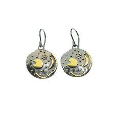 Ohrringe Himmelsscheibe von Nebra Ohrhänger  18mm  925/-- Silber vergoldet