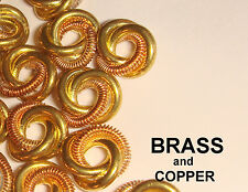 BRASS and COPPER  LOVE KNOTS  9 mm  CONNECTORS  JUMP RINGS 24 pcs VINTAGE BRASS
