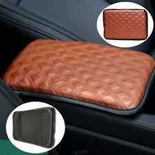 Universal Leather Car Armrest Pad Covers Console Center Brown Protection Storage