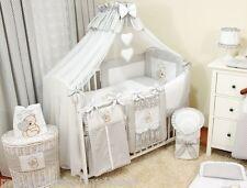 LUXURY 10 pcs BABY BEDDING SET /BUMPER/canopy DRAPE/HOLDER 4 COT BED 140 x 70 cm