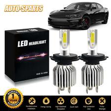 9003 H4 LED Headlights Bulbs Kit Upgrade High&Low Beam 60W 13200LM 6500K White