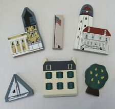 Lot 4 Cat's Meow village lighthouse series Hagerstown Shipjack plus 2 not marked