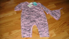 Nwt New Boutique 6-9 Luxe Baby Organic Pink Zebra Set