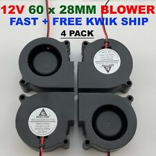 60mm 12V Blower Cooling Fan Brushless Exhaust Fan 2pin 60 x 28mm Computer 4 Pcs