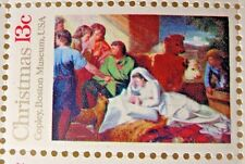 US Postage 13 Cents Copley, Maston Museum USA Christmas 8 Stamps