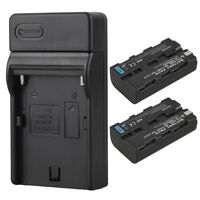 2x NP-F550 NP-F570 Rechargeable Li-ion Battery+Charger For Sony NP-F550 NP-F570