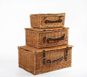 Vintage Wicker Picnic Hamper Gift Hampers Retail Display Home Collection