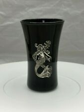 "Mermaid Shot Glass - 3.25"" tall Black and Silver"
