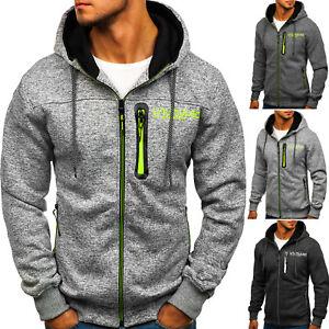 Herren Kapuzenpullover Sweatjacke Sweatshirt Pullover Zip Hoodie BOLF 1A1 Motiv