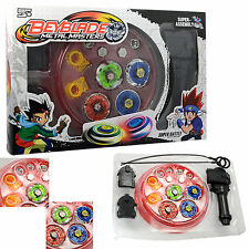 4d Beyblade Launcher Set Top Fusion Metal Master Fight Rapidity RARE Kid Toy