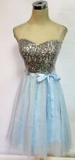 NWT WINDSOR $110 Light Blue Party Cocktail Prom Dress 7