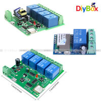 DC/AC 5V/12V/220V 1 or 4 CH WiFi Wireless Relay Switch Control  For Smart Home