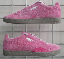 Women's Puma Match Lo Elemental Sneakers, New Suede Pink Sport Walking Shoes 9.5