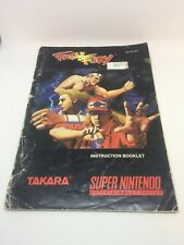 Fatal Fury Super Nintendo Snes Used Manual Only