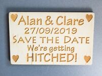 Save The Date Wooden Fridge Magnets for Wedding - Made to Order and Personalised
