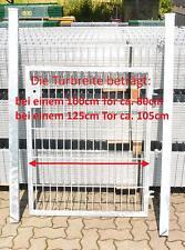 Mattentür Gartentor verzinkt Einbaubreite (incl Pfosten) 125cm x Höhe 203cm