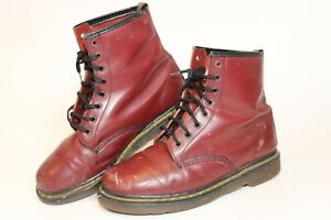 Dr. Martens Womens Size US 9 UK 7 Red Leather Lace Up England Made Combat Boots