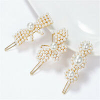 Women Girls Elegant Bobby Barrettes Hair Clip Slip Pearl Hairpin Accessories New