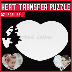 Sublimation Blank Lovely Heart-Shape Jigsaw Puzzle for DIY Heat Press Image