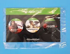 XBOX ONE Pax East Promo Button Set of 3 Mirrors Edge Overwatch  Gears of War 4