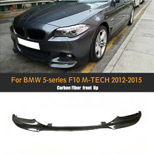 1PC Carbon Fiber Front Bumper Lip Black Fit for BMW F10 M Tech M-Sport 2012-2015