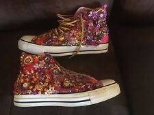 Original CHUCK TAYLORS Converse RARE Beaded By Hand Glass Beads Shoes Size 9