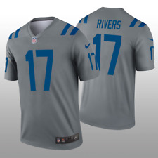Indianapolis Colts #17 Phillip Rivers Nike NFL Stitched Gray Jersey - XL