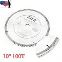 "10"" 100T Carbide Circular Saw Blade Cutting Disc For Wood Cutting Soft Metals US"