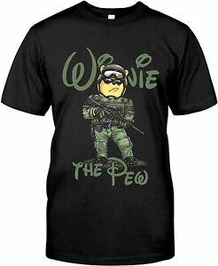 Winnie The #Pooh Hug Gun Winnie The Pew T Shirt Size S-3XL