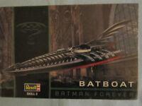 NIP 1995 Batman Forever Revell Batboat Model Kit 1:25 #6722 SEALED Skill 2 vtg