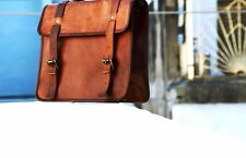 Side Pouch Motorcycle Brown Leather Pouch Saddlebags Saddle Bag Panniers